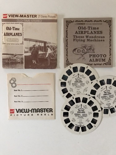 view master old time planes/ships b796 b797 - 1976 - secur