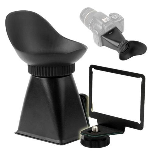 viewfinder lcd 2.8x v6 para canon eo black
