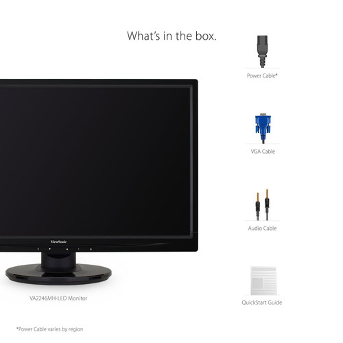 viewsonic va2246mh-led 22  1080p led monitor hdmi, vga
