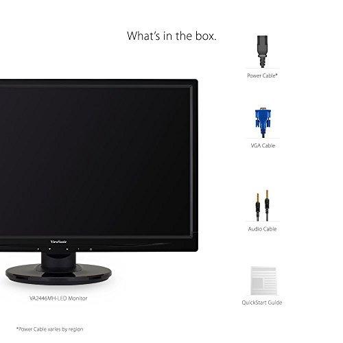viewsonic va2246mhled monitor hdmi, vga 24  pulgadas