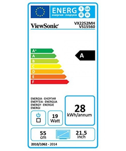 viewsonic vx2252mh 22  2ms 1080p gaming monitor hdmi, dvi