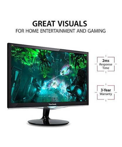 viewsonic vx2252mh 22  2ms 1080p gaming monitor hdmi, dvi