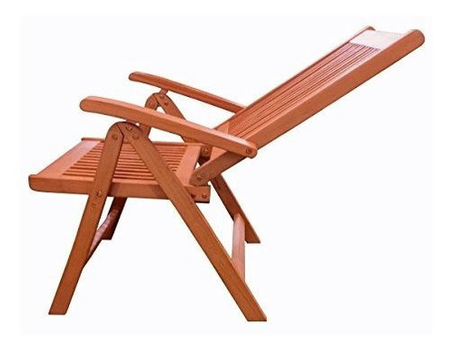 vifah v145 silla de brazo plegable de madera al aire libre c