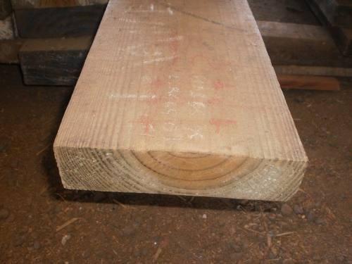 viga de pinus tratado 5x20 cm x 3 m madeira #x6ch