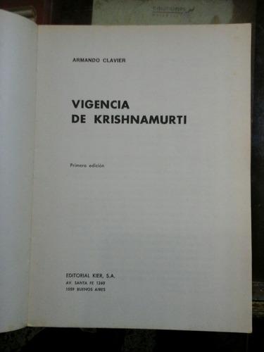 vigencia de krishnamurti, armando clavier.