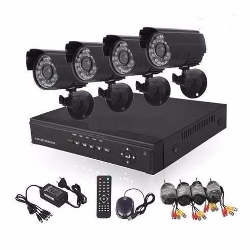 vigilancia kit completo 4 cámaras hd interior o exterior