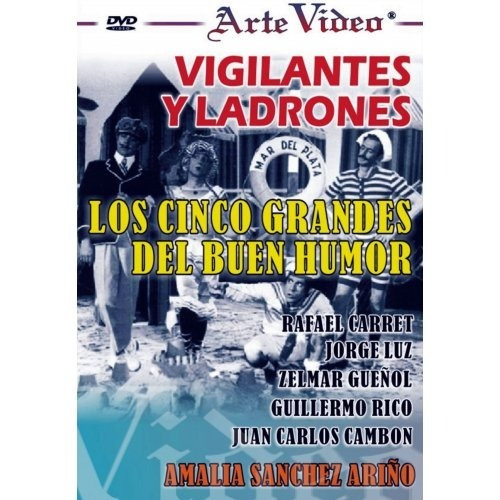 vigilantes y ladrones - los 5 grandes del buen humor - dvd