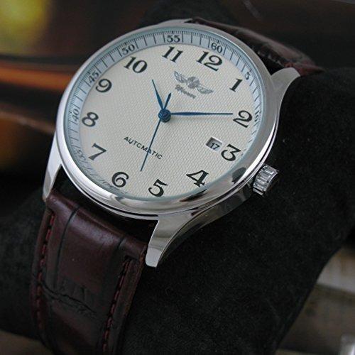 vigoroso - reloj mecánico automático para hombre, con correa