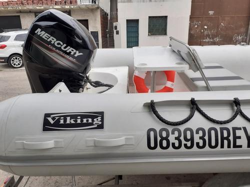viking 5,2 con mercury 60 hp 4t año 2018 con 10 hs completo