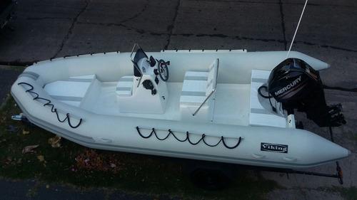 viking 5,2 matrizado  con 60 hp 4 tiempos mercury