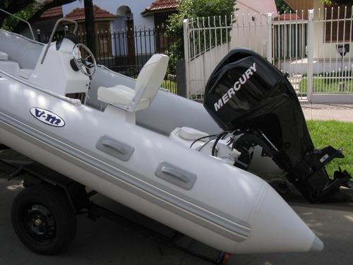 viking de 4,6 mts con mercury 40 hp 4 tiempos full full