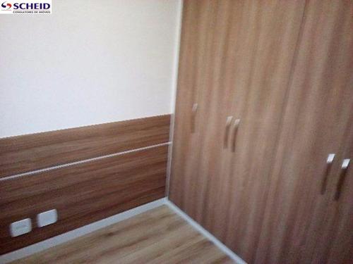 vila santa catarina: 2 dormitórios, sala, cozinha, 2 vagas. - mc2709