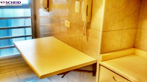 vila santa catarina: apartamento com 58 m²: com 2 dormitórios, garagem. - mc3026