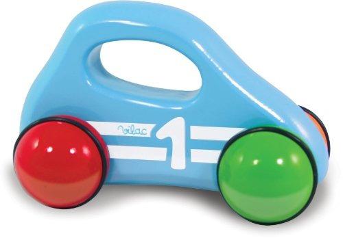 vilac coche de bebé con la manija, azul envío gratis