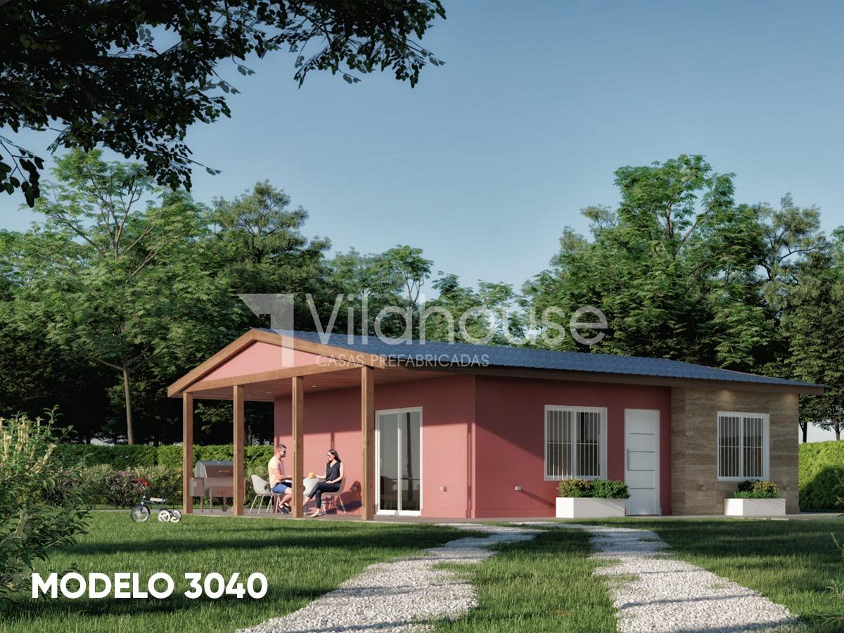 vilahouse casas prefabricadas modelo 3040 3 dorm. 1 baño