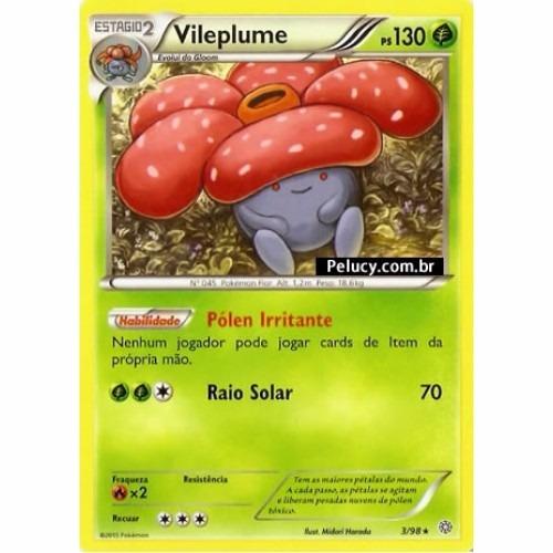 vileplume - pokémon planta raro 3/98 - xy origens ancestrais