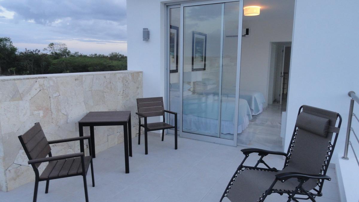 villa amueblada de 3 habitaciones en playa nueva romana