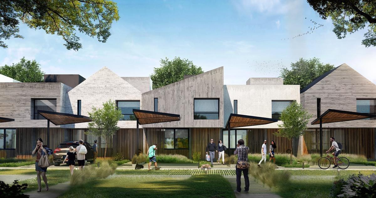 villa belgrano housing casas 3 dormitorios diseño minimalista caserio