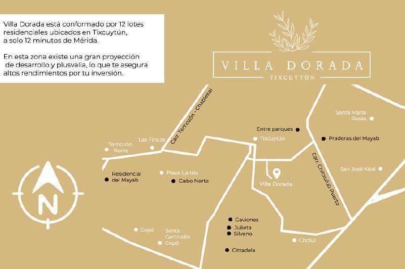 villa dorada - terrenos residenciales c/ servicios y financiamiento en tixcuytun