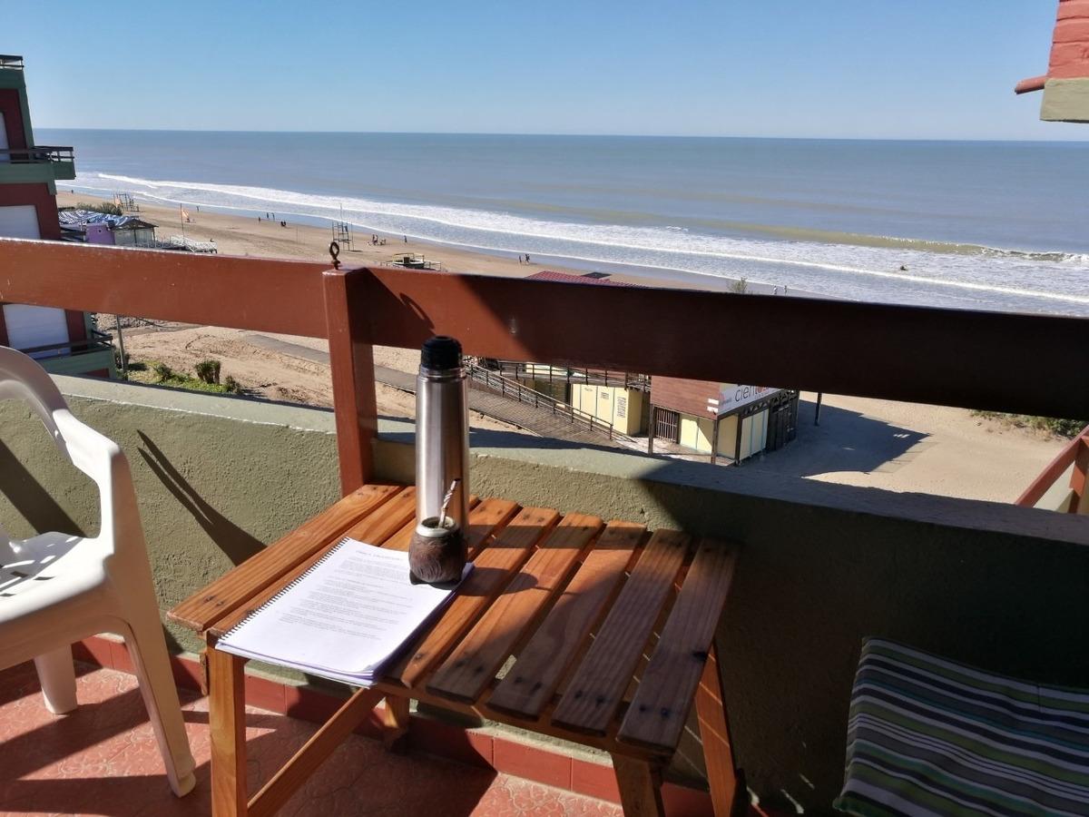 villa gesell dpto 3 amb vista al mar a playa cochera cerrada