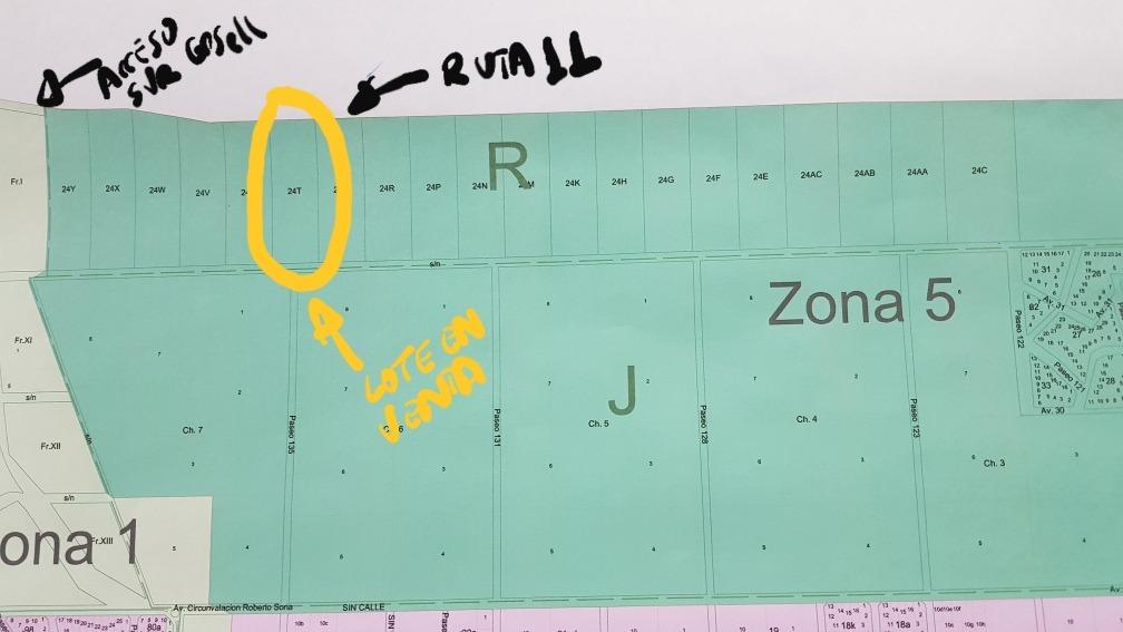 villa gesell dueño vende fracción arbolada 3 has. sobre r11
