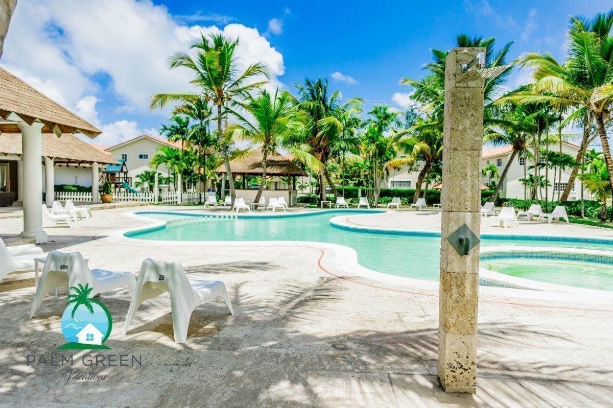 villa renta vacacional-punta cana 2 dormitorios acceso a playa