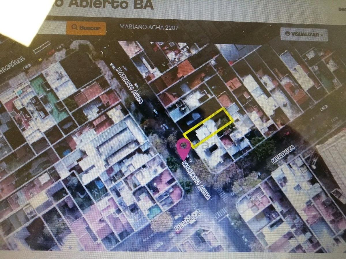 villa urquiza doho, toma metros construidos, lote de 8.66 x 25.98mts