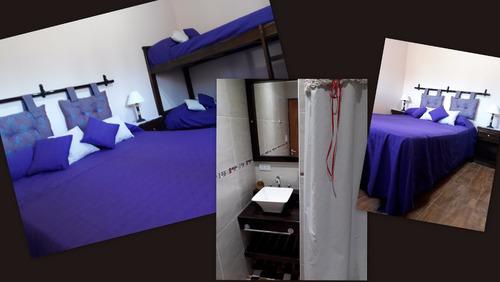 villa.c paz. e.vieja cabaña para 6 y 4 personas.paga cuotas