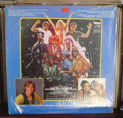 village people lp soundtrack can´t stop the music