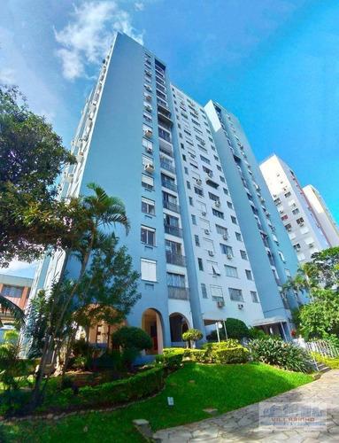 villarinho vende apartamento com 3 dormitórios,79 m² por r$ 240.000 - cristal - porto alegre/rs - ap1297