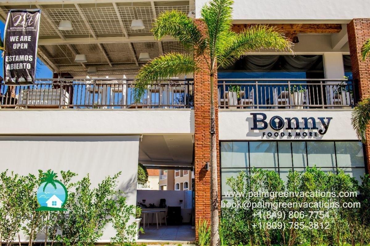 villas renta vacacional-punta cana 3 dormitorios acceso a playa