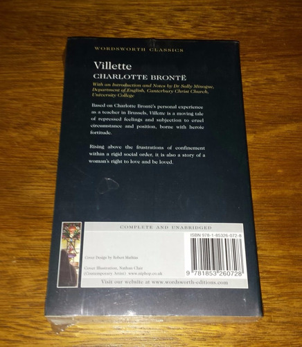 villette - charlotte bronte - em inglês - livro novo