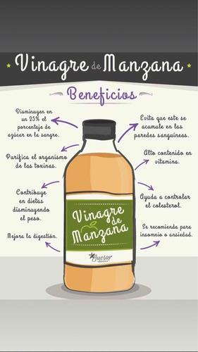 vinagre de manzana 100% orgánico