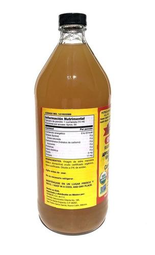 vinagre de manzana orgánico 946 ml bragg