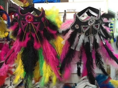 vincha comparsa con plumas altas - excelente calidad!!