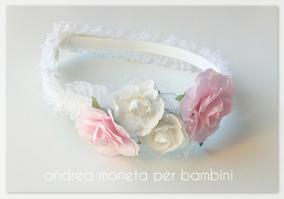 603df5b94 Vincha Corona Flores Nena Bebe Bautismo Novia Moneta Blanca