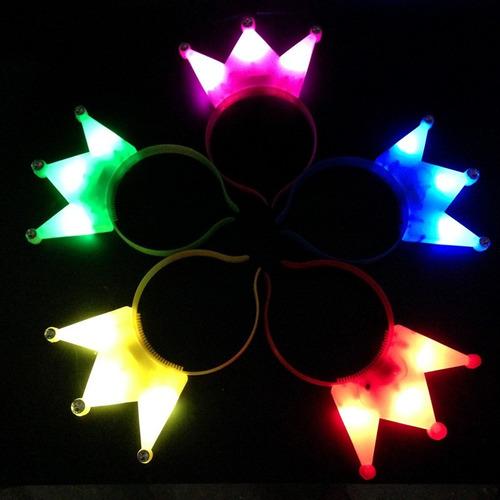 vincha corona led cotillón luminoso