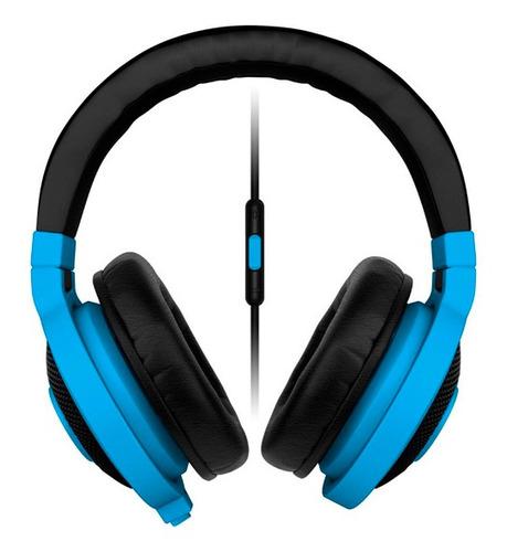 vincha gamer razer kraken mobile blue c/mic