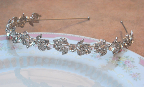 vincha no tiara motivo vintage ideal novias con strass