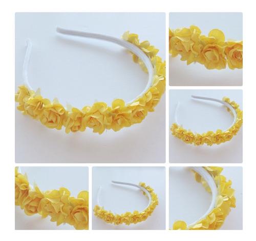 vincha tiara amarilla comunión