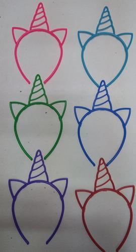 vincha unicornio souvenir economica plastica cotillon