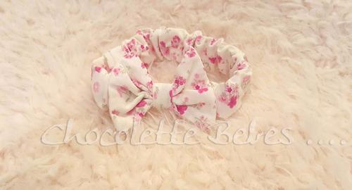 vinchas elasticas rigida algodon rococo dior chocolette bebe