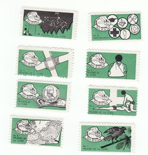 viñetas del campamento nacional scout de 1970