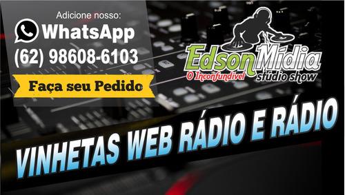 vinhetas para radios e web rádios pacote com 10 produzido