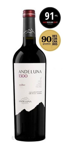 vinho argentino andeluna 1300 malbec 750ml