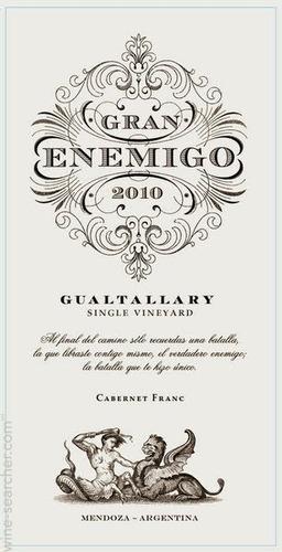 vinho argentino gran enemigo gualtallary  / 6 unidades
