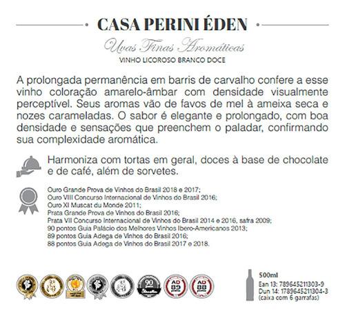vinho branco licoroso casa perini éden - 500ml