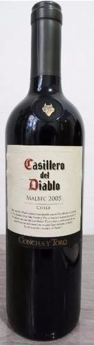 vinho casillero del diablo malbec 2005 750ml