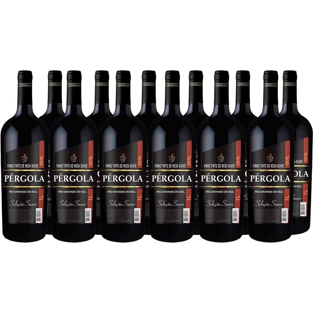 52ad26a3e vinho nacional pergola tinto suave 1 litro caixa com 12 un. Carregando zoom.