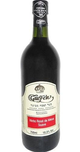vinho rosé suave isabel/bordô 750ml - guéfen